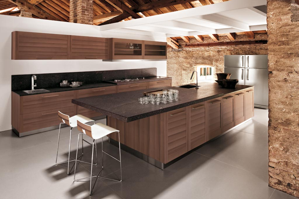 Interni Moderni Cucine : Cucina moderna fiamma rivenditori cucine sicilia