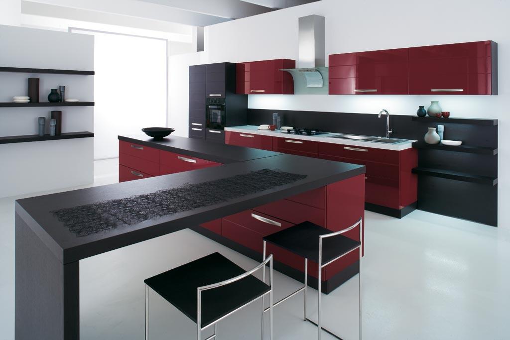 Cucine Rosse. Simple Ispirazione Per Una Piccola Cucina A L Minimal ...