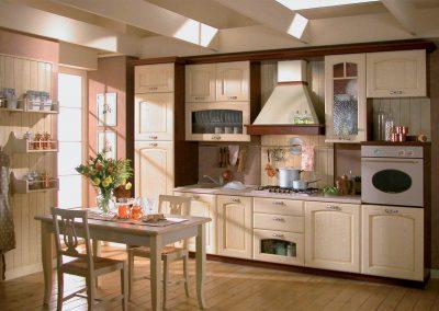 Accogliente cucina classica Veronica disponibile nel color corda