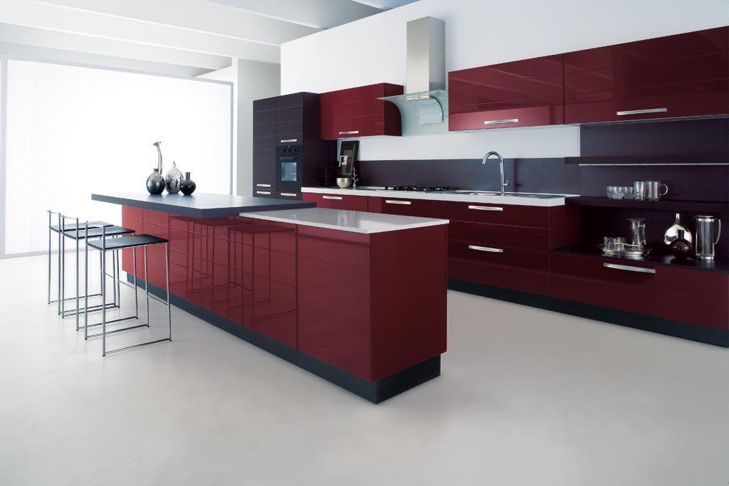 Cucine moderne rivenditori cucine sicilia - Cucine moderne bianche e rosse ...