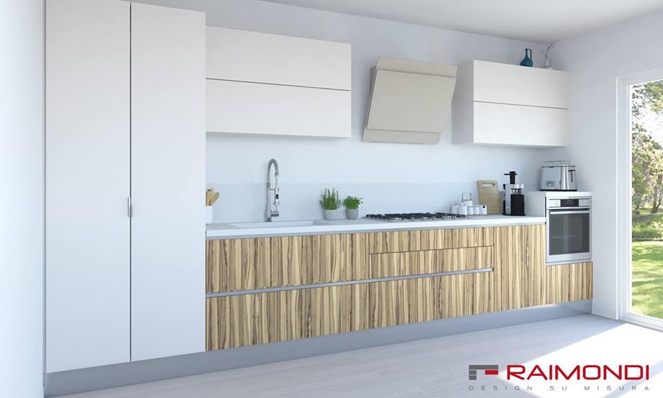 Futura 2 è una cucina in stile moderno, pratica e funzionale: è caratterizzata da grandi cassetti e capienti cestoni.