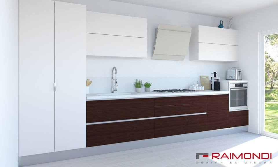 La cucina Futura 2 in stile moderno è disponibile in diversi colori.