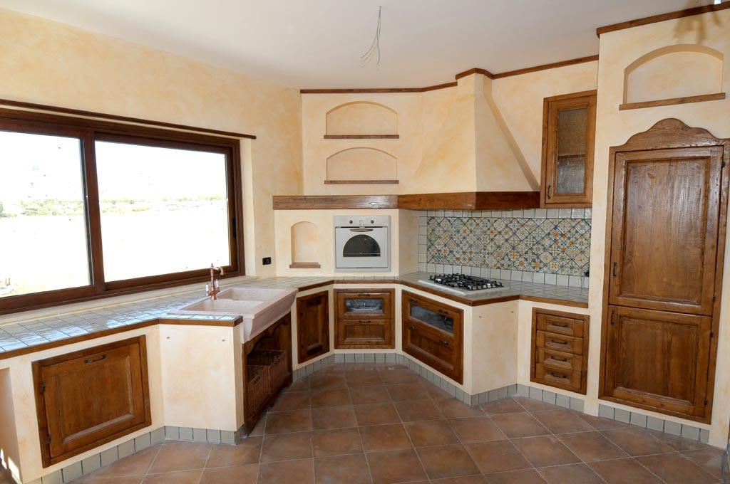 Cucina finta muratura tosca rivenditori cucine sicilia - Cucinini in muratura ...
