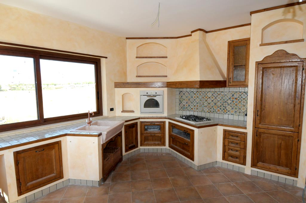 Cucina finta muratura tosca rivenditori cucine sicilia - Bagno finta muratura ...