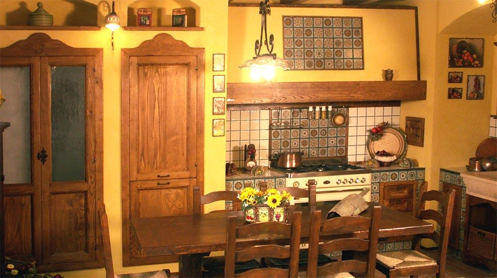 Cucina finta muratura tosca rivenditori cucine sicilia for Pensili cucina in muratura