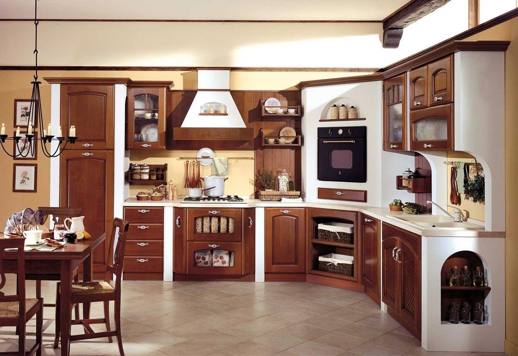 Cucina classica veronica rivenditori cucine sicilia for Cucine moderne color ciliegio