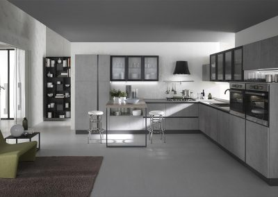 Gora, la cucina moderna con sofisticate combinazioni di colori e finiture