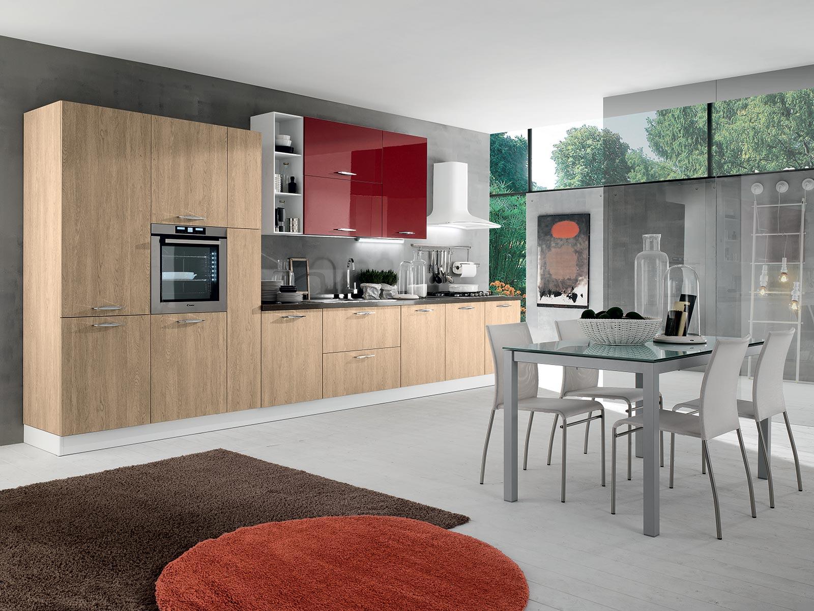 Disponibile in diverse colorazioni, oltre ai modelli, puoi personalizzare la cucina scegliendo due colori da combinare insieme, per uno stile unico ed originale senza rinunciare al comfort e all'utilità.