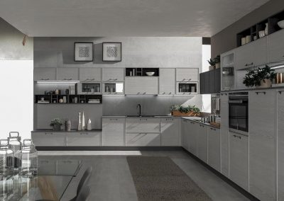 Cucina Starline moderna realizzata con materiali raffinati e di qualità.