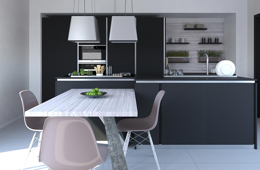 Progettazione cucine moderne in fabbrica con materiali di qualità. Acquista la tua cucina componibile in Sicilia.